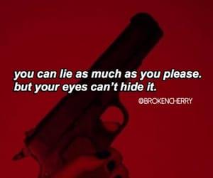 broken, eyes, and gun image
