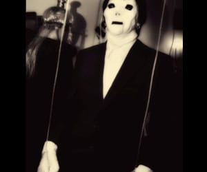 black and white, costume, and creepy image