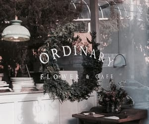 aesthetic, flowers, and cafe image