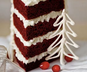 cake, christmas, and food image