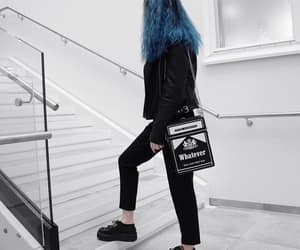 aesthetic, alternative, and blue hair image