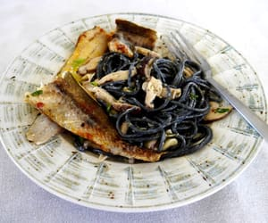 eat, meal, and seafood image