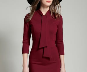bodycon dress, dress, and tie collar image