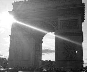noir et blanc, paris, and soleil image