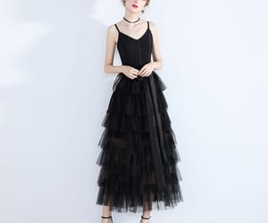 girl, tulle dress, and formal dresses image