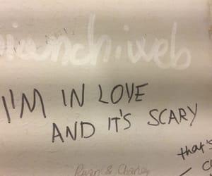 bathroom, bathroom wall, and feelings image