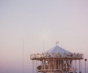 vintage, sky, and carousel image