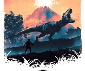 art, Jurassic Park, and poster image