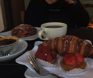 bakery, berries, and cafe image