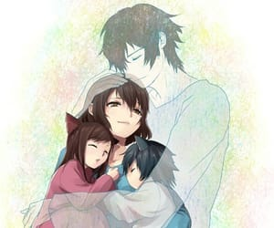 anime, wolf children, and anime girls image