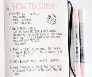 study, school, and tips image