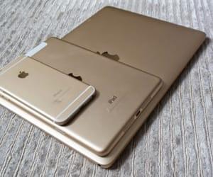 apple, gold, and ipad image