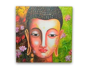 home decor, paintings, and buddha paintings image