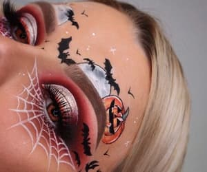 autumn, blonde hair, and scary image