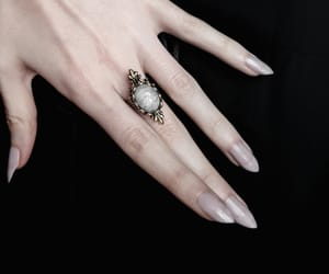 nails, ring, and gothic image