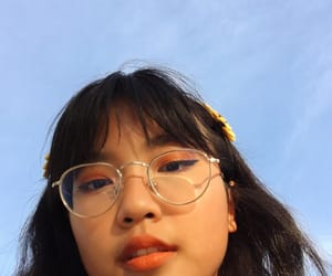 asian, blue, and yellow image