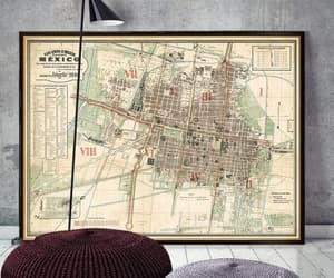 etsy, poster, and vintage map image