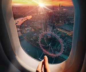 airplane, beautiful, and london image
