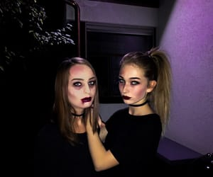 best friends, costume, and dark image