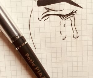black, crying, and draw image