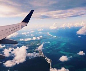 sky, travel, and plane image