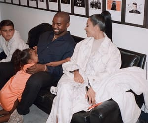 kim kardashian, family, and kanye west image