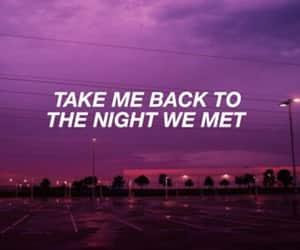 night, couple, and purple image