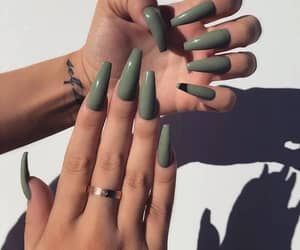 nails, beauty, and tattoo image