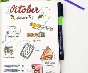 fall, journaling, and october image