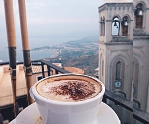 building, city, and coffe image