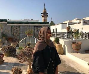 girl, green, and hijab image