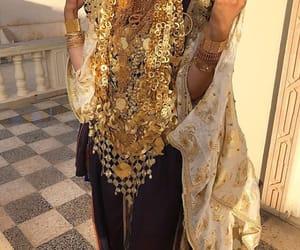 bridal, girl, and gold image