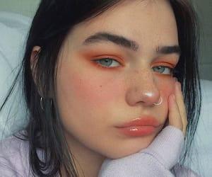 makeup, orange, and skin image