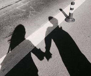 couple, shadow, and aesthetic image