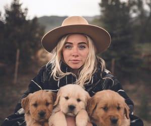 dog, girl, and inspiration image