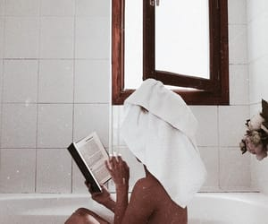 bath, chic, and books image
