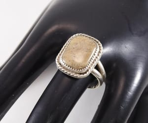 modern, etsy, and sterling silver ring image