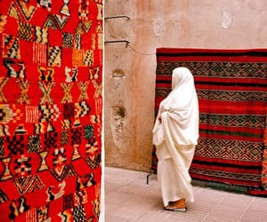 carpet, girl, and orient image