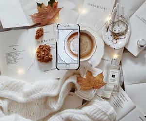 autumn, books, and iphone image