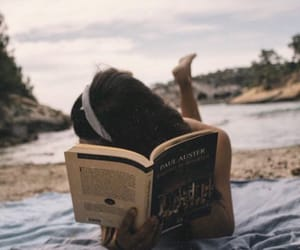 book, art, and beach image