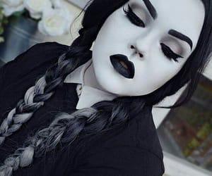 Halloween, makeup, and goth image