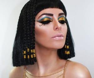 cleopatra, makeup, and Halloween image