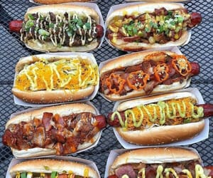 delicious, food, and hotdog image