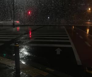 rain, night, and dark image