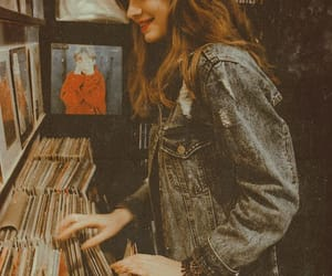 girl, vintage, and music image
