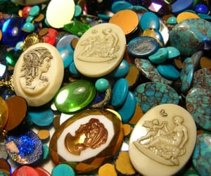 cameos, etsy, and jewelry supplies image