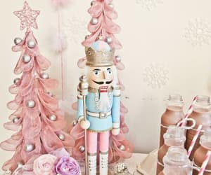 pink, christmas, and nutcracker image