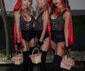 girl, Halloween, and friends image
