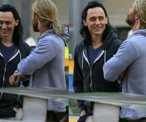 thor, chris hemsworth, and tom hiddleston image
