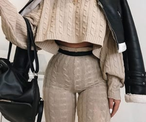 backpack, beige, and indie image